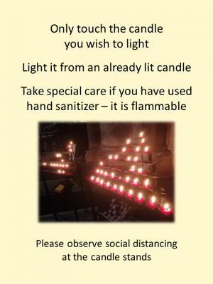 Light candle safely