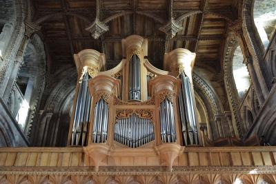 The organ at St Davids Cathedral