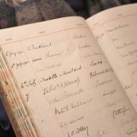 Cathedral visitors book